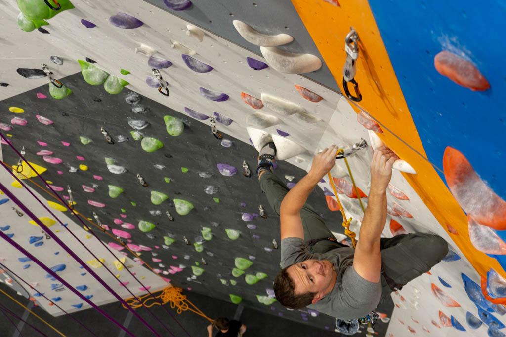 beginner indoor climbing