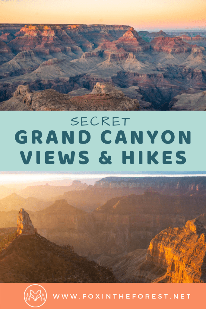 The best hiking trails and viewpoints of the Grand Canyon in Arizona. Amazing things to do on your Grand Canyon Vacation including hiking, picture ideas, and photography. Free camping in the Grand Canyon. Tips and tricks for avoiding the crowds at the Grand Canyon. #nationalparks #travel #hiking #photography