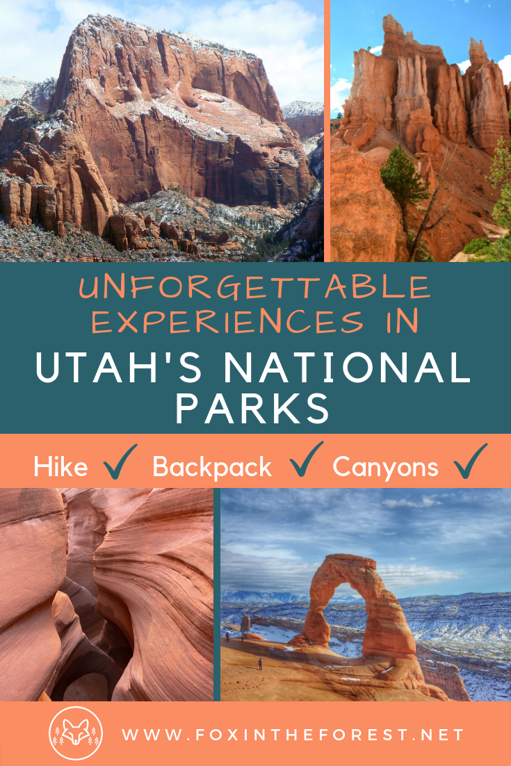 The best things to do in Utah's National Parks. Best hikes and views in Utah's Mighty 5. Bucket-list activities in Utah's National Parks. Things to do in Zion, Arches, Canyonlands, Bryce Canyon, and Capitol Reef National Park. #hiking #camping #backpacking #utah #nationalparks