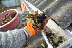 Gutter Cleaning by hand