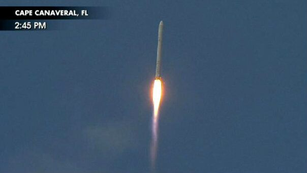 SpaceX's Falcon 9 blasts off on its maiden voyage.