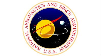 A vintage logo for NASA, the National Aeronautics and Space Administration. (NASA)