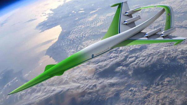 This future aircraft design concept for supersonic flight over land comes from the team led by the Lockheed Martin Corporation