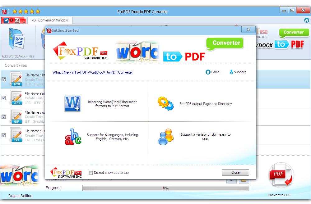 FoxPDF DocX to PDF Converter. DocX to PDF Converter. Convert DocX to PDF. Convert Word to PDF. Word to PDF. DocX to PDF. etc.
