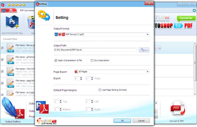 FoxPDF PhotoShop to PDF Converter. PhotoShop to PDF Converter. Convert PhotoShop to PDF. Convert PSD. JPEG. JPG. GIF. BMP. J2K. HTM. RTF. TXT into ...