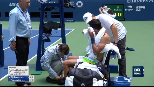 Novak feels the heat