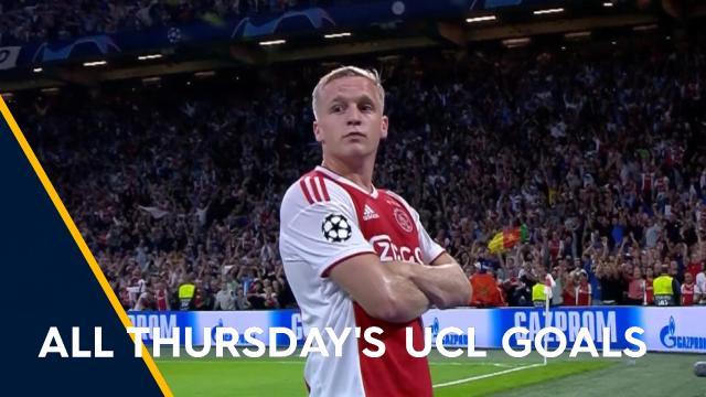 All Thursday's UCL goals