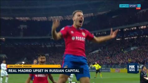 CSKA Moscow stun Real