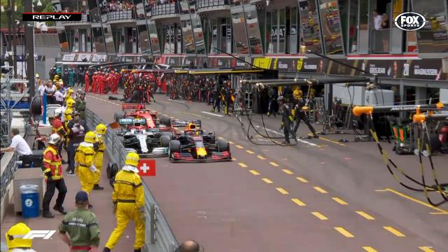 Pit lane chaos in Monaco