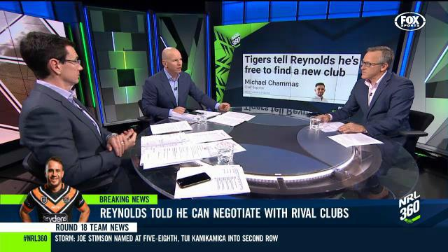 Reynolds on outer at Tigers