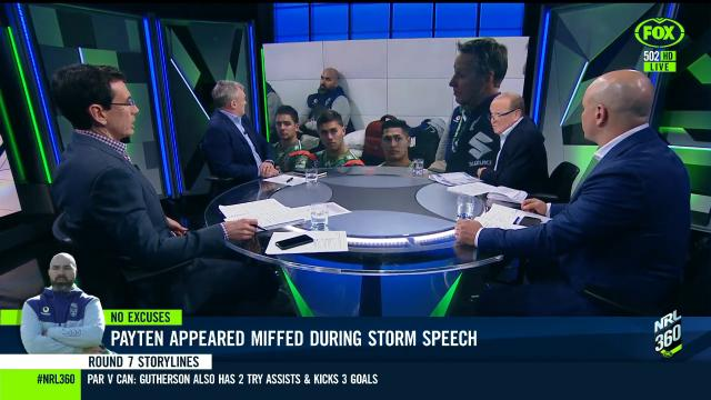 Storm's speech angers Payten?