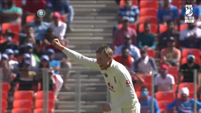 Root dismissed Pant with his first ball!