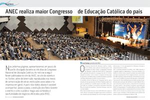 Página dupla da revista especial Informativa Educacional, da Associação Nacional de Educação Católica do Brasil, ANEC. Diagramação de Cristiane Gonçalves Cabral.