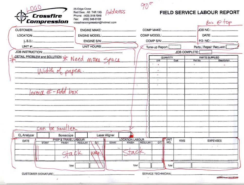 Mash Millwright Field Service Report   foxtail studio