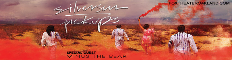 Silversun Pickups Amp Minus The Bear Tickets 22nd October