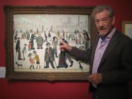 Ian McKellen and Lowry painting