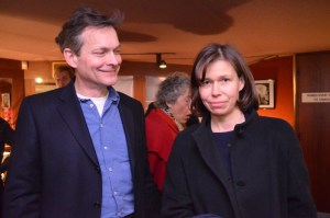 Artists Daniel Chatto and Sarah Armstrong Jones at the premiere