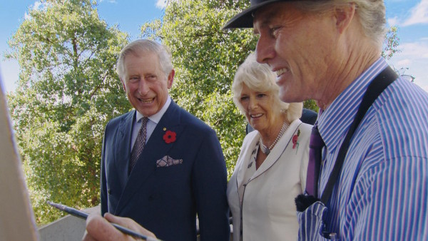 Australian artist Warwick Fuller on Royal Tour
