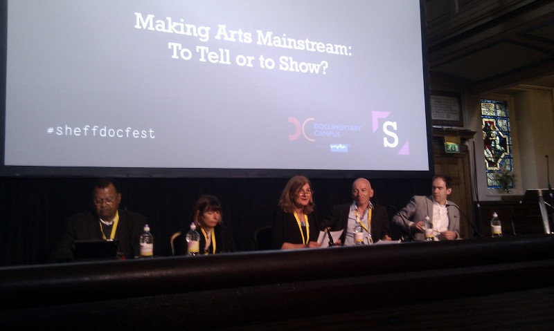 "Margy Kinmonth chairs the panel of ""Making Arts Mainstream"""