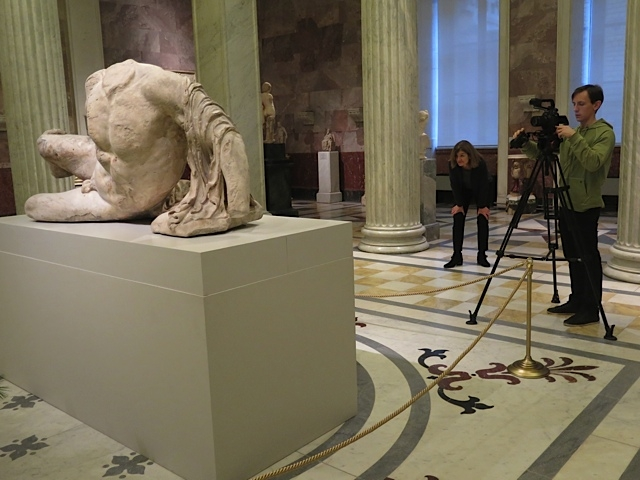 Filming River God in Hermitage