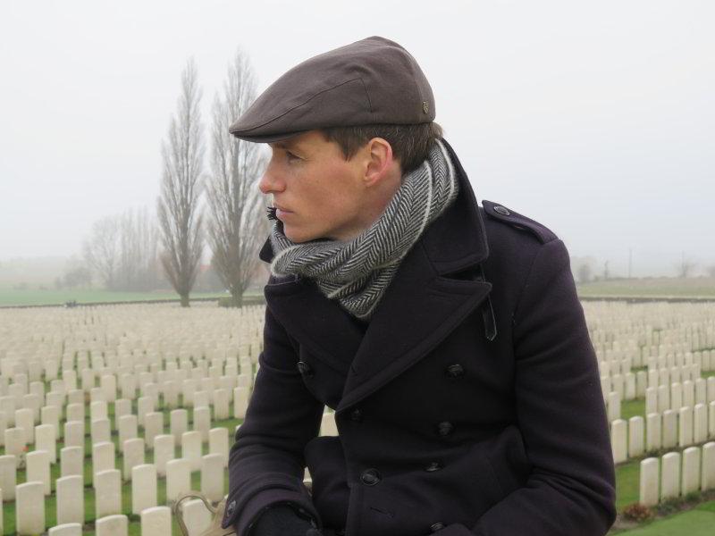 Eddie Redmayne at Tyne Cot Cemetery, Flanders. Photograph © www.foxtrotfilms.com