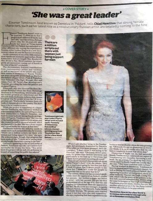 iWeekend iNews – Eleanor Tomlinson Feature