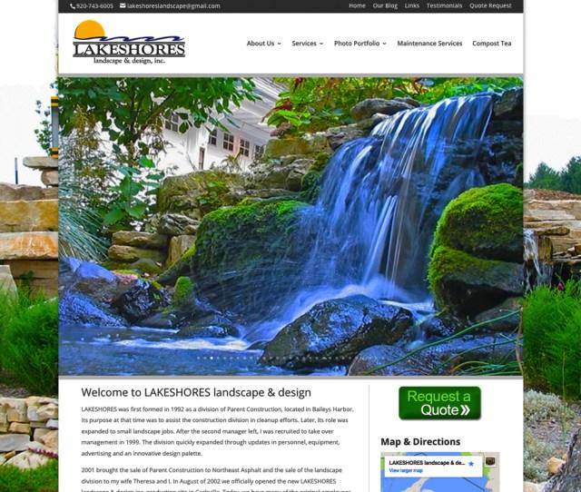Lakeshore Landscape Design Inc Sturgeon Bay Wisconsin Door County Website Designerssturgeon