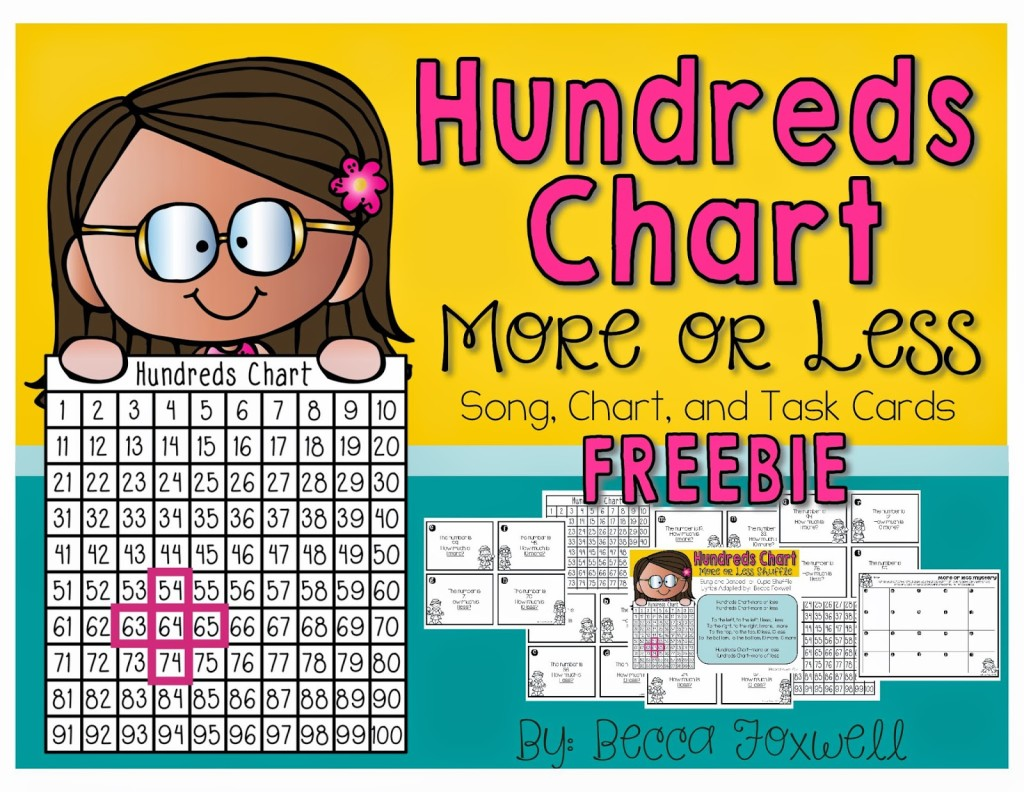 Hundreds Chart More Or Less Song And Freebie