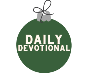 """Image of an ornament with the words """"Daily Devotional"""""""