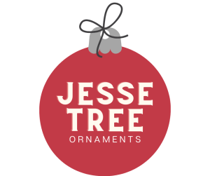 """Image of ornament with the words """"Jesse Tree Ornaments"""""""
