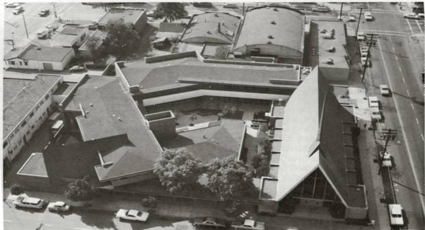 Areal Photo of Church campus from 1960s