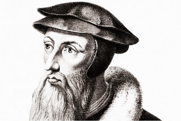 an early modern sketch of John Calvin