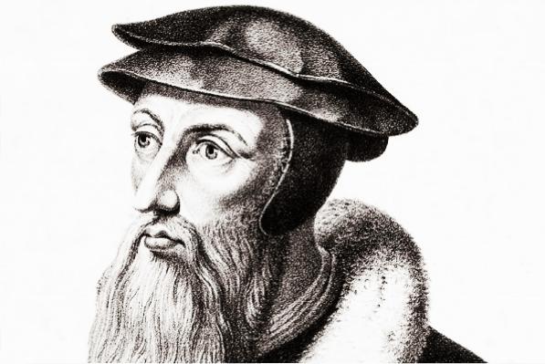 an early modern sketch of John Calvin