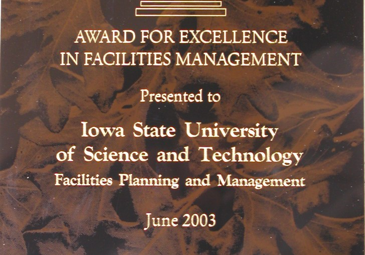 Award For Competitive Excellence Iowa State