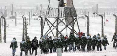 fake Auschwitz watch tower