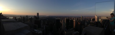 Panoramica dal Top of the Rock