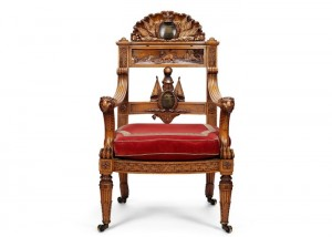 The Waterloo Elm was made into a chair and presented to George IV