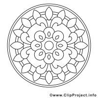 Illustration gratuite mandalas à imprimer   Mandalas ...