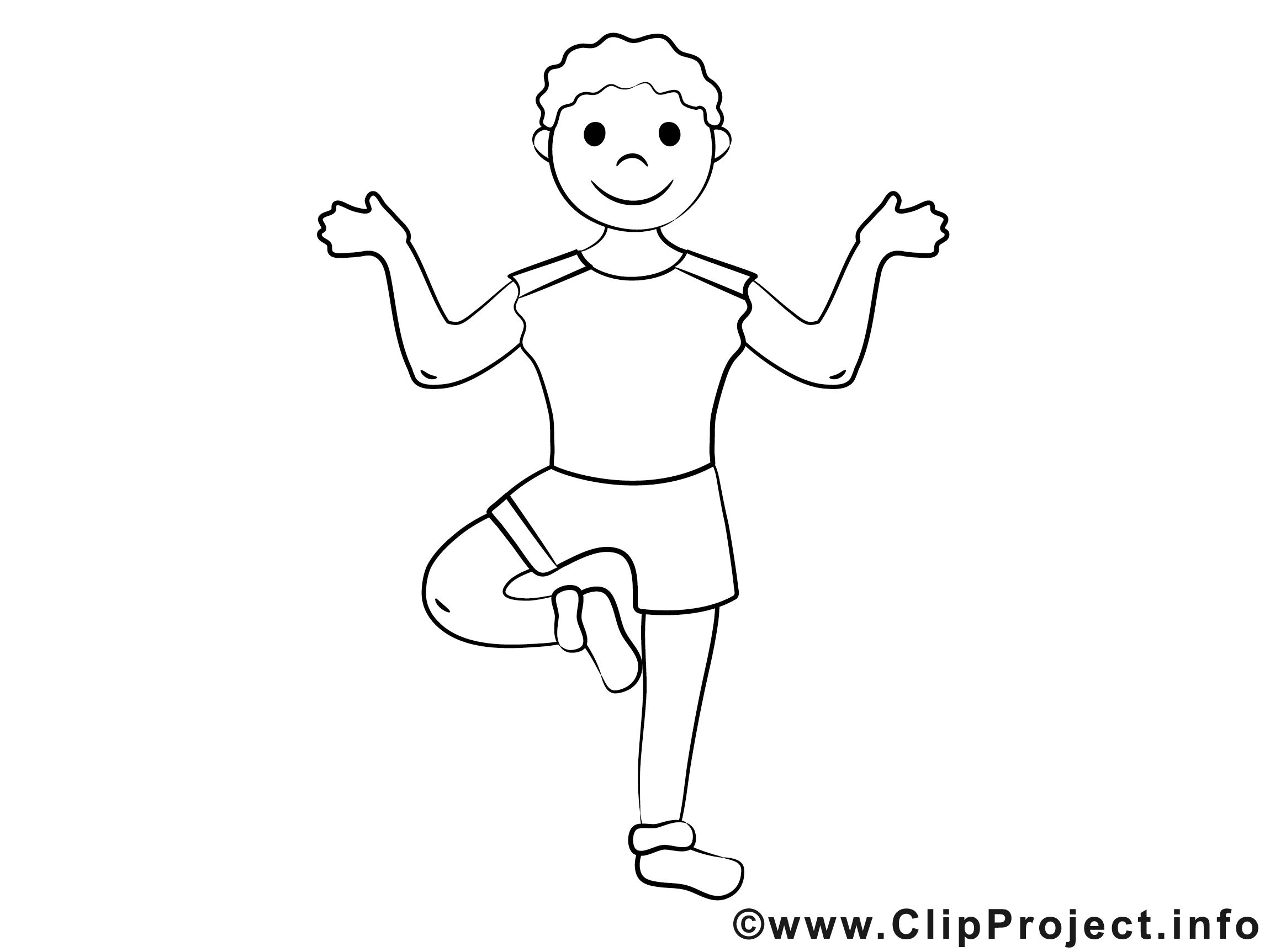 Image Yoga Coloriage Sport Illustration