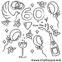 mariage coloriages clipart images