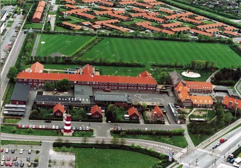 Sædding Skole med de tre skolegårde