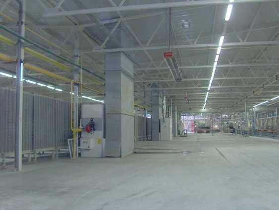 Riscaldamento industriale di grandi ambienti con impianto a tubi radianti panrad