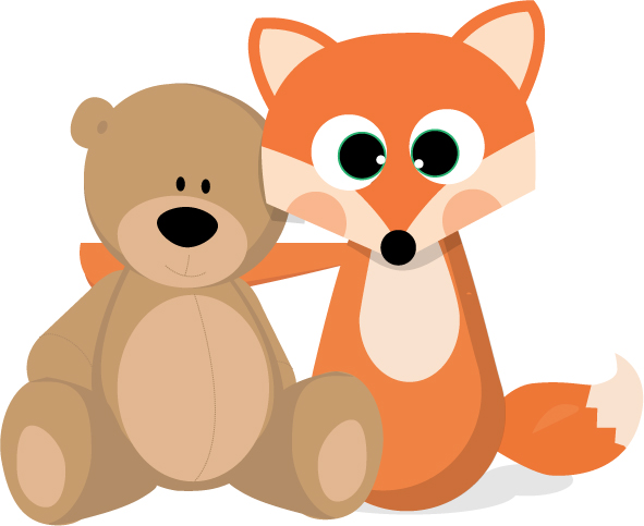 Doudou-malin-ours-renard-de-face-sourir copie