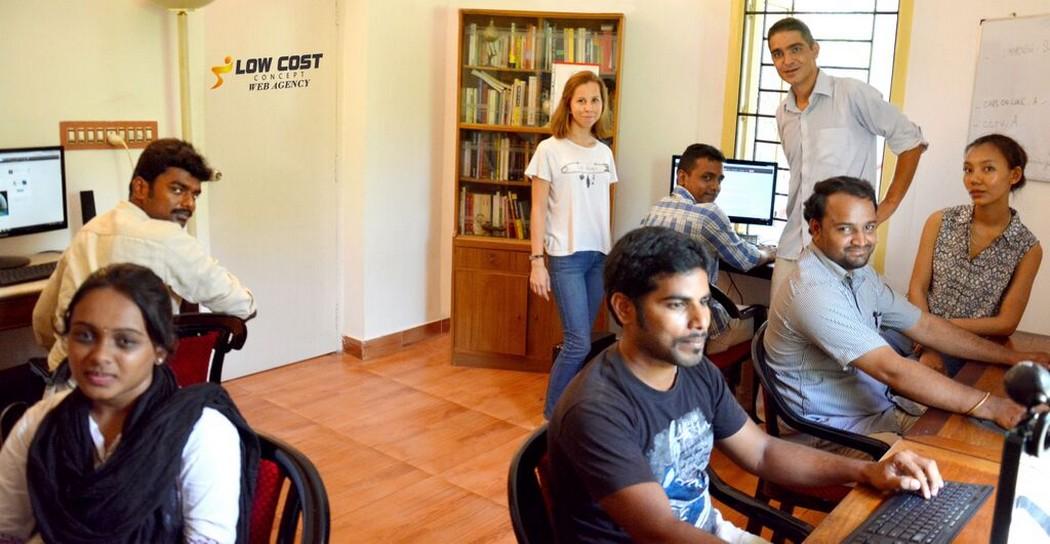 """""""L'état d'esprit des Indiens est tourné vers le futur et les nouveaux entrepreneurs sont encouragés et admirés"""" Alexandre Menini cofondateur de Low Cost Web Agency Ltd à Pondicherry"""