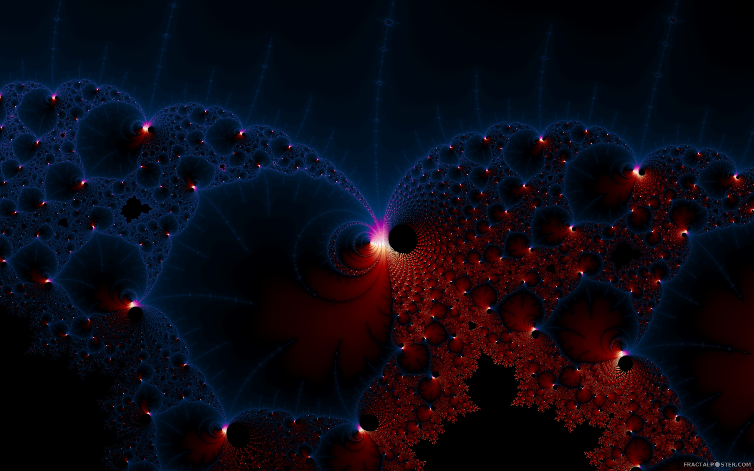 Red Blue Cells fractal image by Spac3case HD Wallpapers