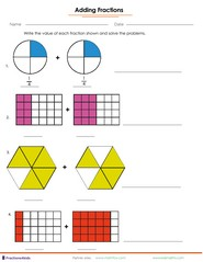 Adding fractions from parts