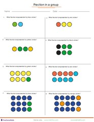 Fractions in a group of dots