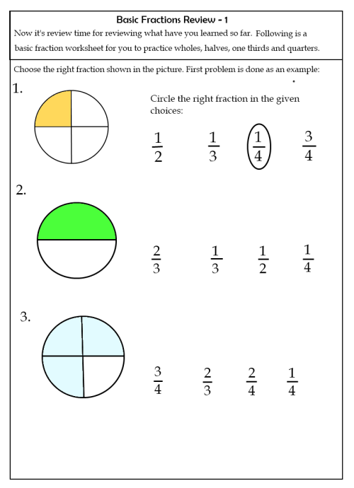 small resolution of Fraction Worksheets