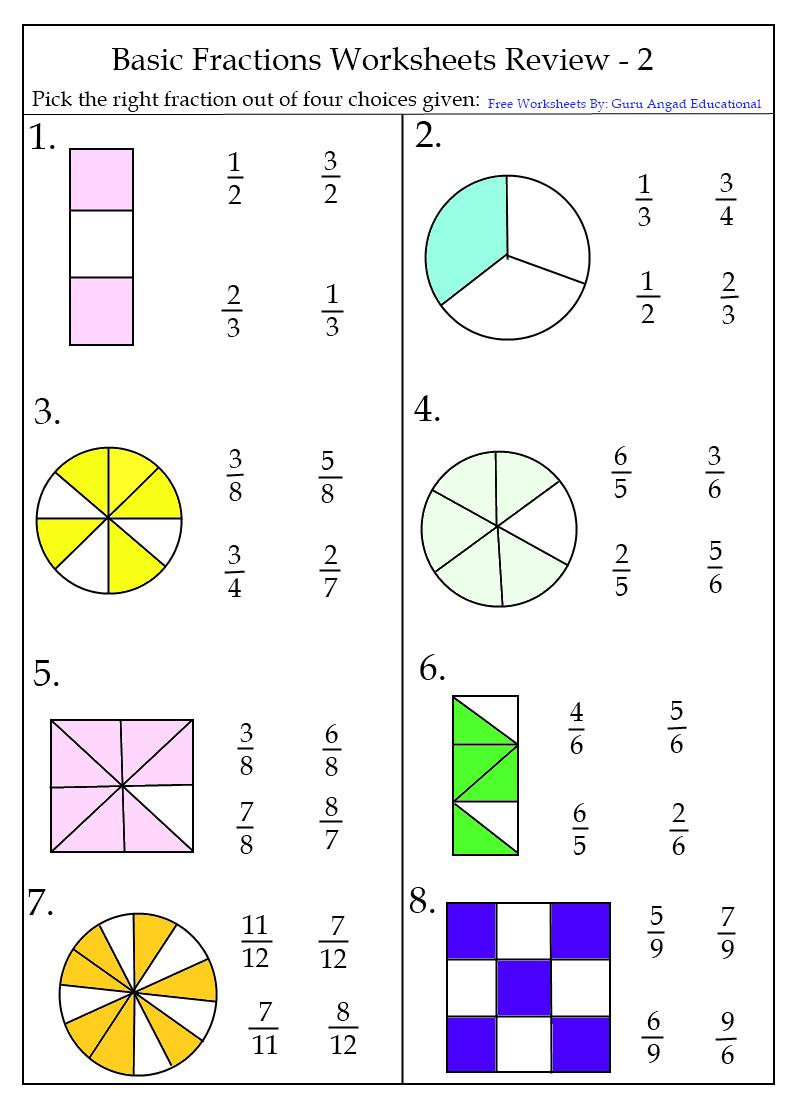 medium resolution of Fraction Worksheets