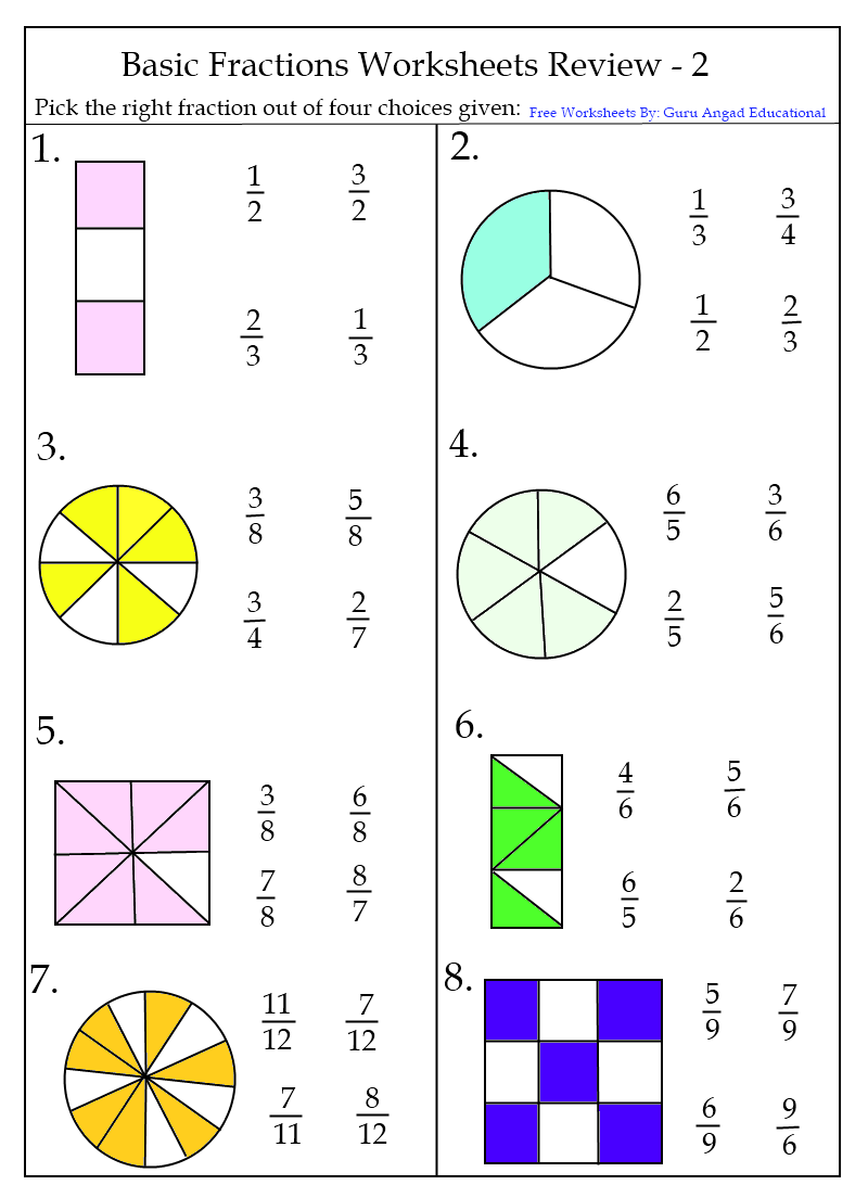 hight resolution of Fraction Worksheets